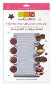 ScrapCooking 4-Textured Sheets for Chocolate and Fondant