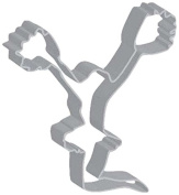 Flavortools Cheerleader Cookie Cutter with Exclusive Flavortools Copyrighted Cookie Recipe Booklet, 11cm
