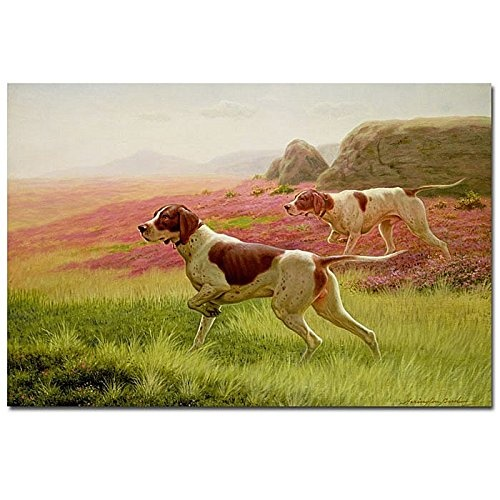 60cm-by-80cm-Trademark-Fine-Art-Pointers-in-the-Landscape-by-Harrington