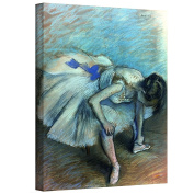 Art Wall 'Seated Dancer' Gallery-Wrapped Canvas Artwork by Edgar Degas, 80cm by 60cm