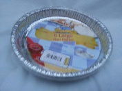 6 x round foil flan dish - 215mm x 24mm disposible tray