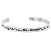 Qina C. The Future Belongs To Those Who Believe In The Beauty Of Their Dreams Adjustable Cuff Bracelet Wristband Bangle
