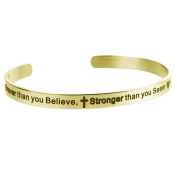 Qina C. You Are Braver Than You Believe..Stronger .. Smarter..adjustable Cuff Bracelet Wristband Bangle