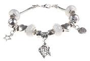 Netball/Basketball Sport Themed Charm Bracelet with Gift Box Women's Jewellery