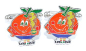 gemelolandia - Cufflinks Naranjito with World Cup - Various Colours