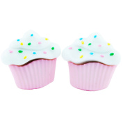 TFB - FUNKY PRETTY CANDY PINK SPRINKLE MUFFIN STUD EARRINGS QUIRKY NOVELTY FUN GIFT