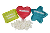 Southern Homewares 98-Piece Message in a Cookie Holiday Cookie Cutters Kit Set, Multicolor