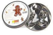 ScrapCooking Gingerbread Man Cutters, Stainless Steel, Set of 3