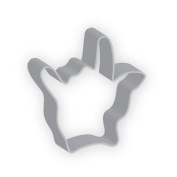 The American Cookie Cutter by Flavortools Hand Love sign Cookie Cutter, 9.5cm , Set of 12