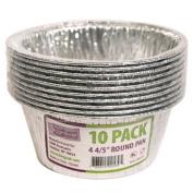 Nicole Home Collection Aluminium Round Pan, 12cm , 10-Pack