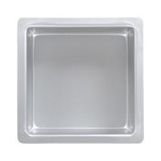 PME Square 30cm x 30cm x 7.6cm Seamless Professional Aluminium Baking Pan, Silver