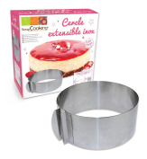 ScrapCooking Adjustable Round Frame for Cake, Stainless Steel