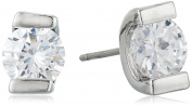 "Lonna & Lilly ""Classics"" Silver-Tone/Cubic Zirconia Glass Stud Earrings"