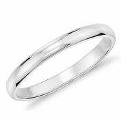 Queenwish 2mm High Polished White Tungsten Wedding Ring Comfort Fit Domed Ring Size 5-10