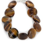 Delicate $100 Retail Tag Authentic Navajo Made by Adel Morgan Nickel Natural Tigers Eye Native American Bracelet