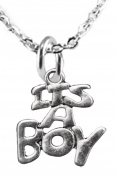 Its A Boy, Adjustable Necklace, Hypoallergenic, Safe-Nickel, Lead, Cadmium Free