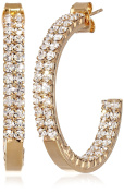 """Oroclone """"Crystal Set"""" 30mm Plated Twin Row Inside Out Earrings"""