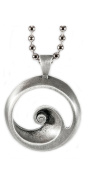 . wave curl Lead-free Pewter Barrel Pendant