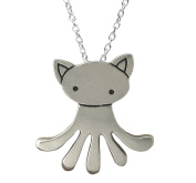 Mark Poulin Women's Pewter Necklace Cat-Octopus 46cm Chain