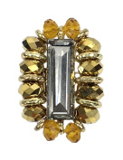 Amrita Singh Ora Crystal Statement Stretch Ring, Golden
