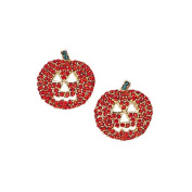 Halloween jack o lantern pumpkin handcasted with Crystals Vintage Inspired NEW Gift Brooch pin RSP1700