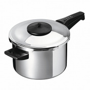 "Kuhn Rikon ""Duromatic Ergo"" Pressure Cooker, Stainless Steel, Silver, 7 Litre/22 Cm"