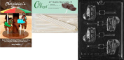 Cybrtrayd Baptism Bassinet Lolly Baby Chocolate Candy Mould with 50 11cm Lollipop Sticks and Chocolatier's Guide