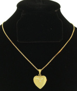 Heart Pendant with CZ along with FREE 18K BOX CHAIN