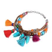 B Jewellery Collection Beaded Tassel Multi Layer Bracelet, Multi