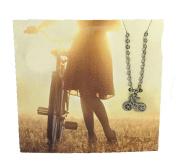 Zad Jewellery 'Explore' Bicycle Mini Pendant Necklace, Silvertone