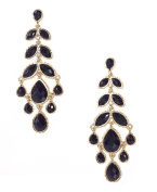 Amrita Singh Brenna Long Chandelier Earrings, Jet Black