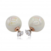 Kemstone Crystals Statement Women Party Jewellery Colour-Changing Acrylic Stud Earrings