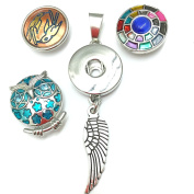 Banju Interchangeable Snap Button Pendant with wing set