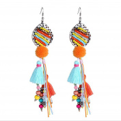 B Jewellery Collection 'Aria' Beaded Tassel Drop Earrings, Multi