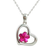 Fashion Jewellery - 18k White Gold Plated Heart Necklace