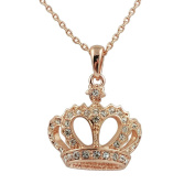 Fashion Jewellery - 18k Rose Gold Plated Crown Necklace
