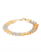 Dual Tone Link in Attractive Geometric Style Bracelet