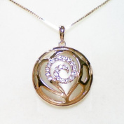 Fashion Jewellery - 18K Rose Gold Plated Flower Necklace