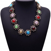 Easting Colourful Gems Of Stars Choker Necklace Charm Necklace For Womens