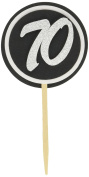 All About Details Black & White 70 Cupcake Toppers, Set of 12