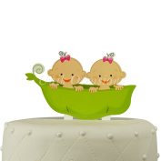 Unik Occasions Twins Acrylic Cake Topper