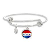 The Adjustable Band Bangle Bracelet featuring Stars & Stripes