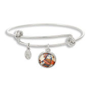 The Adjustable Band Bangle Bracelet featuring Poker Queen