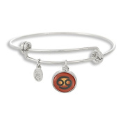 The Adjustable Band Bangle Bracelet featuring the colour pop Cancer astrology sign
