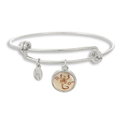 The Adjustable Band Bangle Bracelet featuring the ancient Scorpio astrology sign