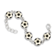 The Classic 13MM 6-Link Bracelet featuring Soccer Balls
