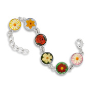 The Classic 13MM 6-Link Bracelet featuring Fresh Flowers of the Season