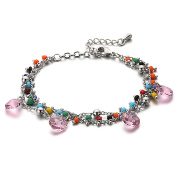 "Elements Light Rose ""Liberta"" Charm Bracelet Rhodium Plated"