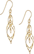 Signature Twisted Oval Gold Tone Earrings One Size Gold tone