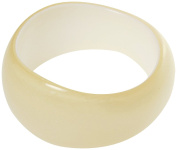 Bracelet - Wide Acrylic Pearlescent Bangle - Kiki's Pearl Passion